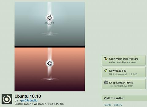 deviantART Ubuntu 壁紙 Ubuntu 10.10 set