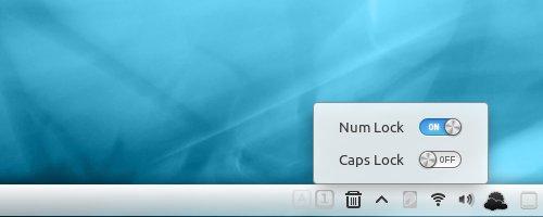 Caps/Num Lock Ubuntu Cinnamon アプレット