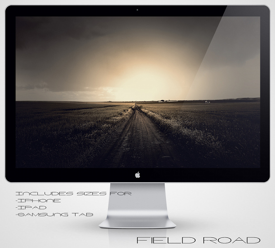 Field Road Ubuntu 壁紙