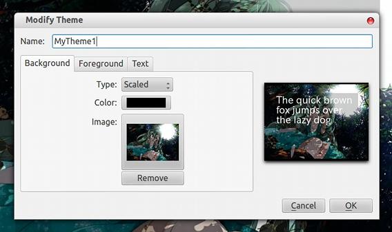FocusWriter Ubuntu テキストエディタ テーマの作成 背景画像