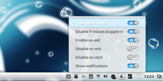 Touchpad Indicator Classic タッチパッドを有効にする