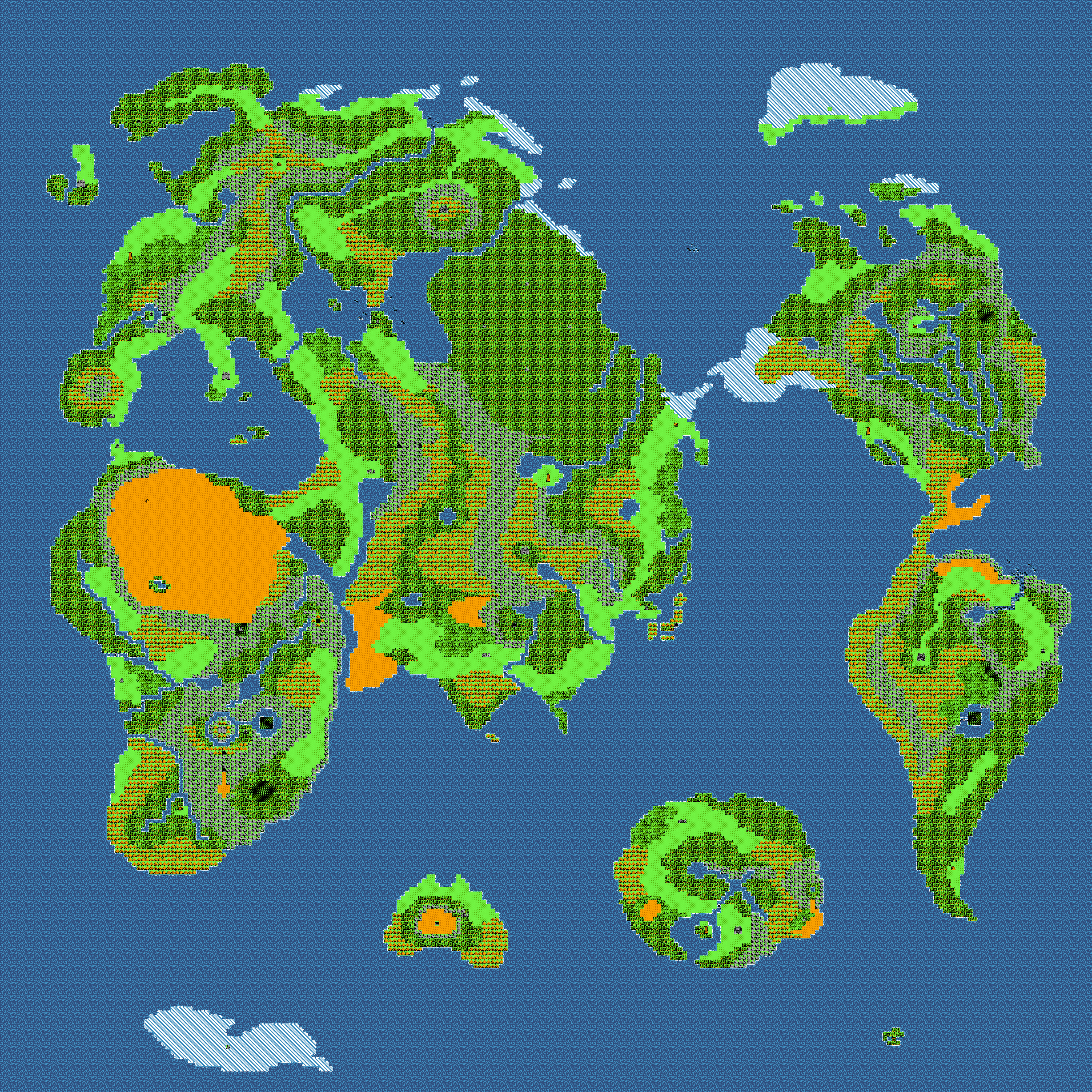 広大なワールドマップ、点在する村落や都市。やっぱりRPGって最高