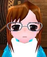 薄縁メガネ 装着 大きい