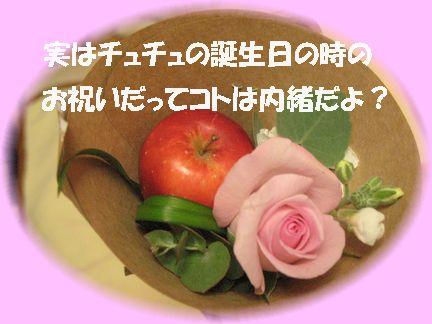 このリンゴ・最終的にしわしわ?に(^-^;)