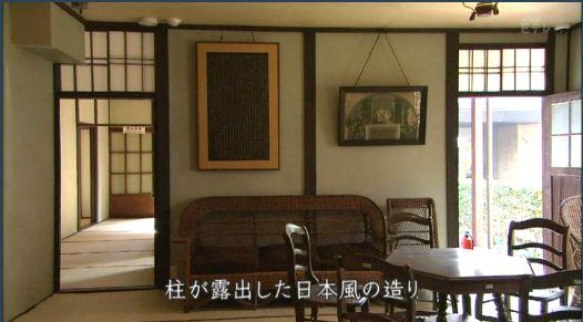 柱が露出した日本風の造り